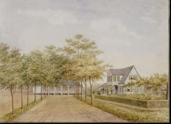 Tropenmuseum_Royal_Tropical_Institute_Objectnumber_H-3357_Aquarel_voorstellende_het_hospitaal_op-2